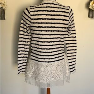 Anthro Postmark Open Sweater w/ lace detailing